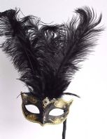 Black & Gold Tall Mask